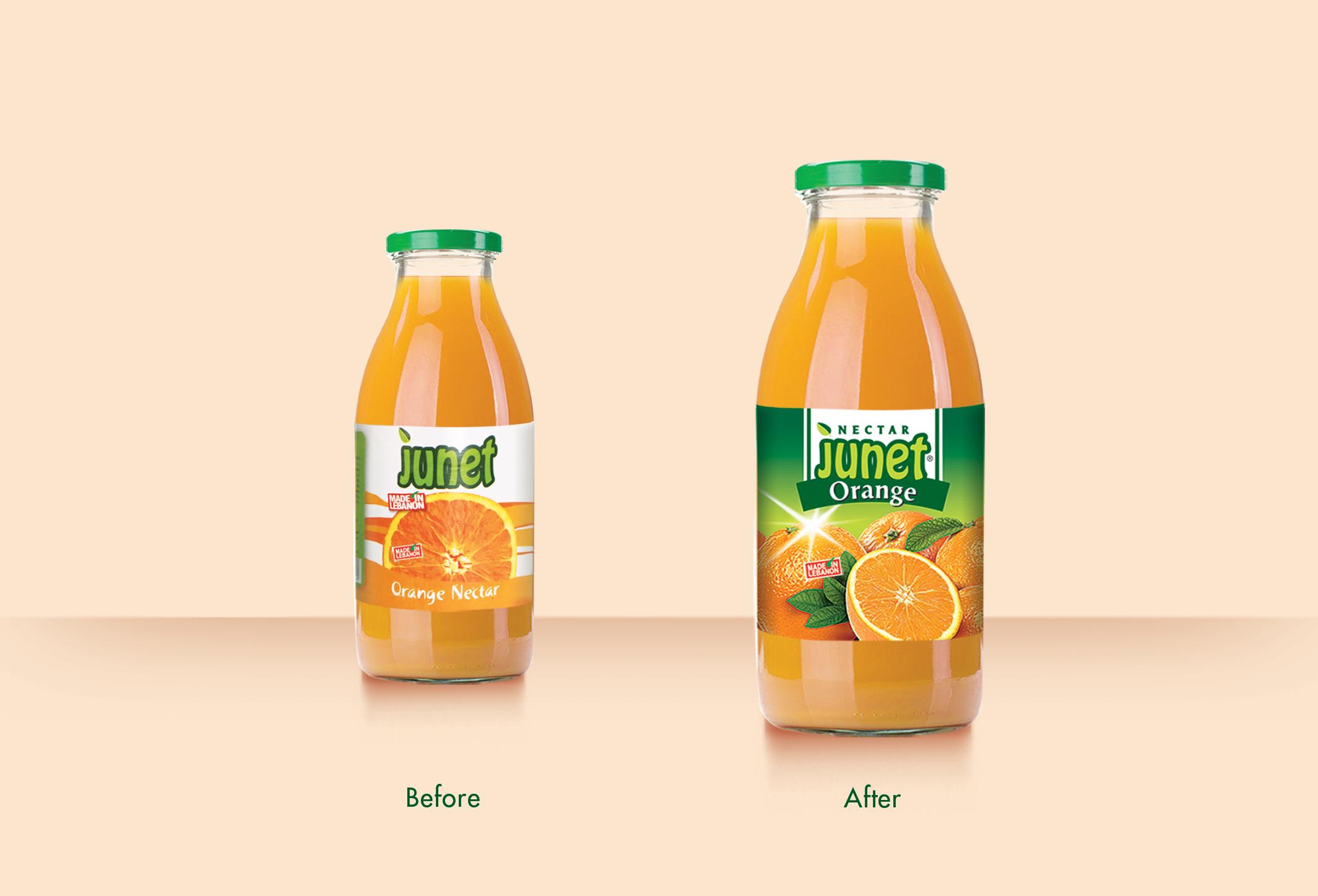 junet bottles Before & After2